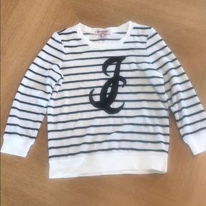 Juicy Couture Sweater white with black strips